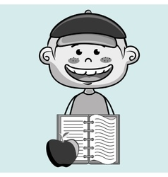 cartoon boy notebook icon vector image