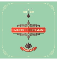 christmas vintage card background vector image vector image