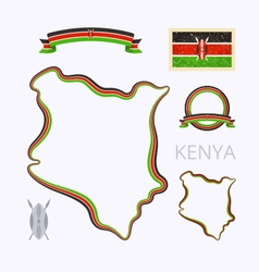 Colors of Kenya vector image vector image
