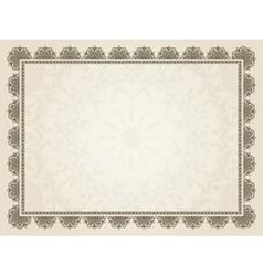Decorative certificate vector