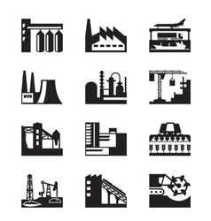 Different industrial plants vector