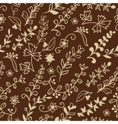 Floral seamless pattern for invitation card vector image vector image