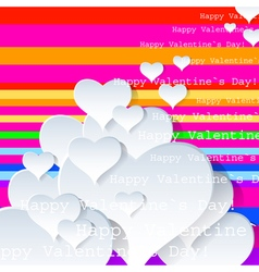 Heart Valentines Day background or card art vector image vector image
