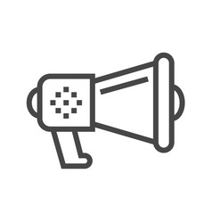 Loud speaker thin line icon vector