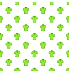 Men green polo pattern cartoon style vector image vector image