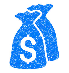 Money bags grunge icon vector