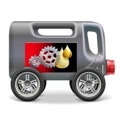 Motor oil on wheels vector