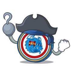 Pirate dragonchain coin character cartoon vector
