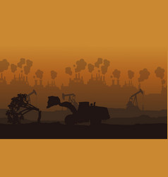 Pollution industry bad environment landscape vector