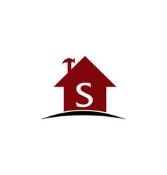 real estate solution initial s vector image