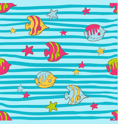 Seamless summer pattern with color tropical vector