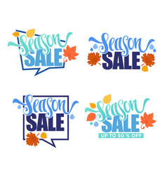 season sale collection of autumn discount vector image vector image