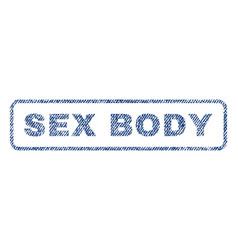 Sex body textile stamp vector