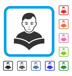 Student framed dolor icon vector