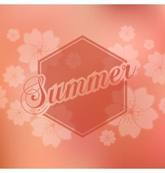 Stylish Summer seasonal card design vector image