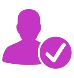 Valid patient icon vector