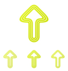 Yellow line boost logo design set vector