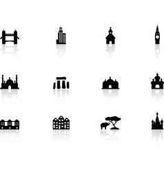 Web buttons landmark icons vector
