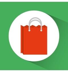 Shopping bag inside circle design vector