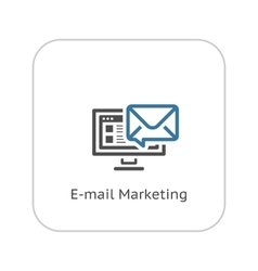 E-mail marketing icon flat design vector