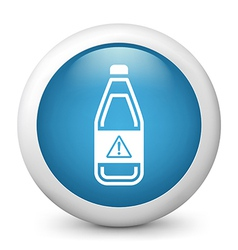 Warning bottle glossy icon vector