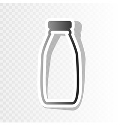 Milk bottle sign  new year blackish icon vector