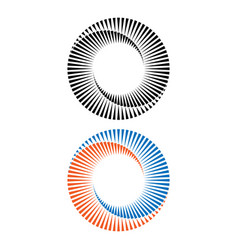 two abstract spirals vector image