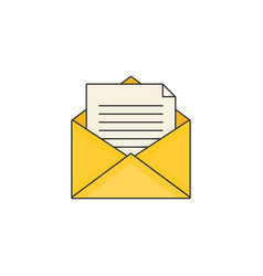 Flat design modern of mail vector