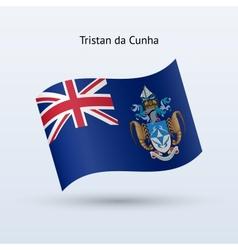 Tristan da Cunha flag waving form vector image