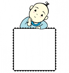 Baby boy frame vector
