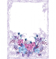 Grunge floral card vector