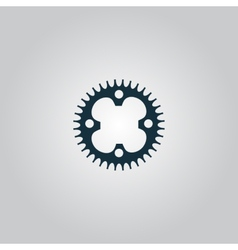 Bicycle sprocket vector