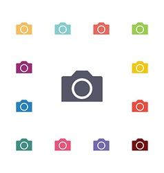 photo camera flat icons set vector image