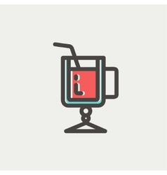 Lime juice thin line icon vector