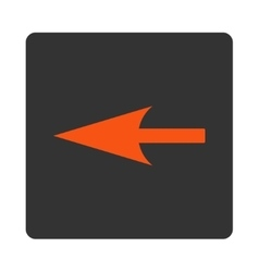 Sharp left arrow flat orange and gray colors vector