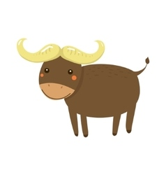 Buffalo realistic childish vector