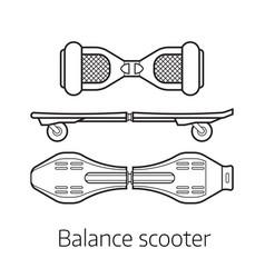 Balance board set vector