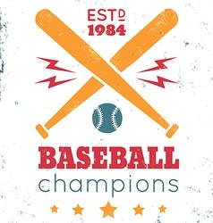 Baseball vintage poster white vector