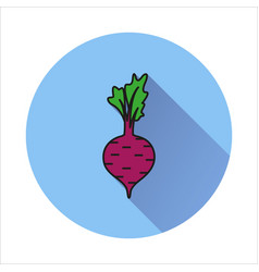 Beet simple icon on white background vector