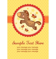 Birthday party card with horse vector