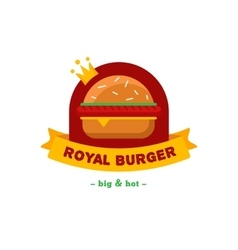 bright burger restaurant logo Brand sign vector image vector image