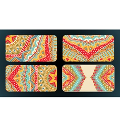 Cards Design Ethnic Pattern Set vector image