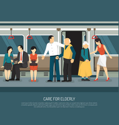 care for elderly vector image