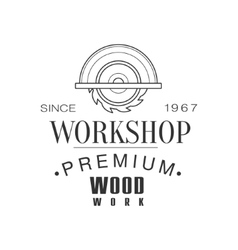 Circ saw premium quality wood workshop monochrome vector