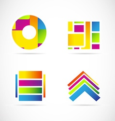 Colors icon logo set symbol element vector image vector image