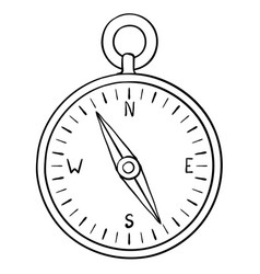 compass doodle vector image
