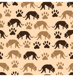 Dog and footprint seamless pattern eps10 vector