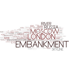 Embankment word cloud concept vector