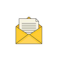 Flat design modern of mail vector