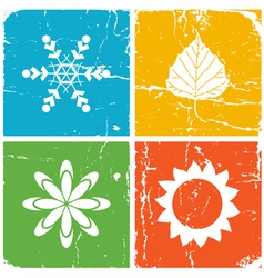 Four season vector